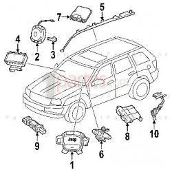 Airbag - Sensor de impacto delantero